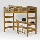 Woodcrest Heartland Honey Loft Bed with Desk - WCM527