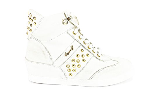 CESARE PACIOTTI sneakers donna 39 EU bianco pelle scamosciata borchie AH653