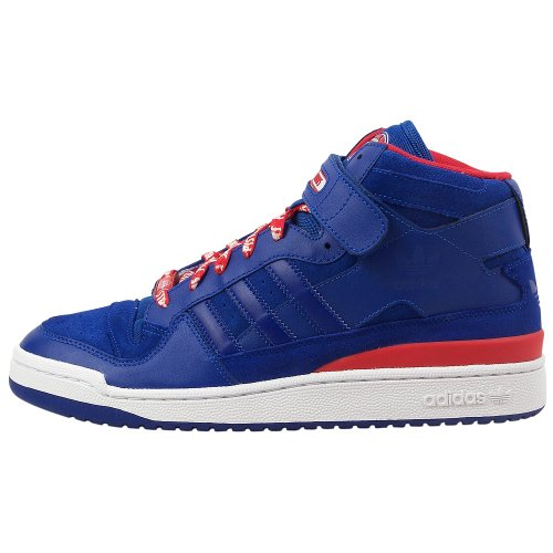 adidas Select Men's Forum Mid (Pistons) Sneaker,Blue/Blue/Red,12 M