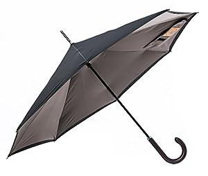 【逆折り式傘】CARRY saKASA City Model 逆さまの傘 逆さ傘 濡れない 長傘 Teflon認証 撥水コーティング (オリーブグレー+ブラック)
