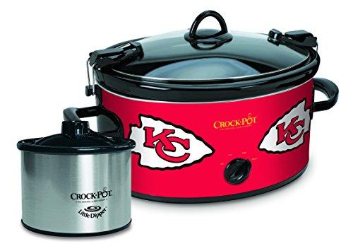 Crock-Pot Kansas City Chiefs NFL Cook & Carry Slow Cooker with Bonus 16-ounce Little Dipper Food Warmer (Kc Chiefs Crock Pot compare prices)