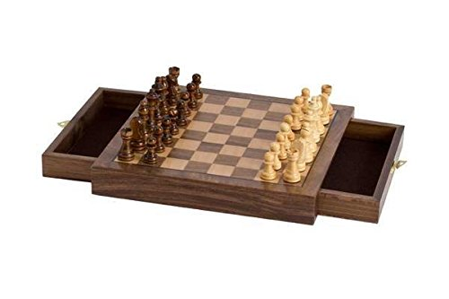 CHH Imports Magnetic Walnut Cafe Chess Set 0