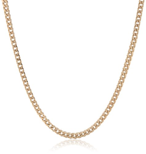 """Men'S  Gold Ion Plated Stainless Steel Thin Foxtail Chain Necklace, 20"""""""
