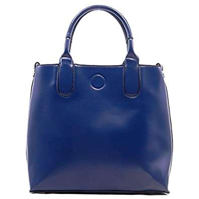 MyLux Women DESIGNER 2 IN 1 TOTE BAG 0002 Blue