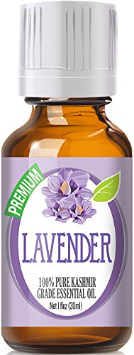 Lavender 100% Pure, Best Therapeutic (Kashmir) Grade Essential Oil for Aromatherapy- 30ml / 1 (oz) Ounce