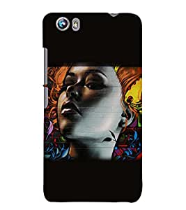 PRINTSWAG BEAUTIFUL GIRL Designer Back Cover Case for MICROMAX CANVAS FIRE 4 A107