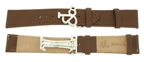 jacob-co-genuine-real-satin-brown-short-band-strap-20smm-for-40mm-watch