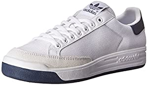 adidas Originals Men's Rod Laver Sneaker, White/Collegiate Navy, 10 M US