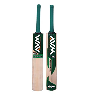 Avm Fortuner Kashmir Willow Cricket Bat-Green (SH)