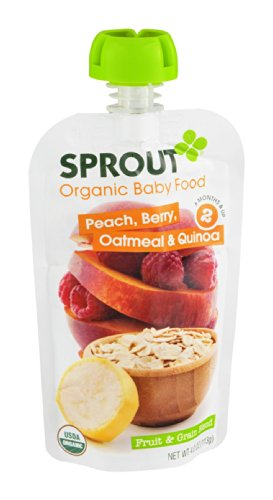 Sprout Organic Baby Food Peach, Berry, Oatmeal & Quinoa 4 Oz (Pack Of 20)