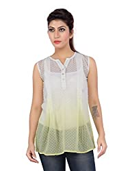Liwa White Polyester Tops For Women