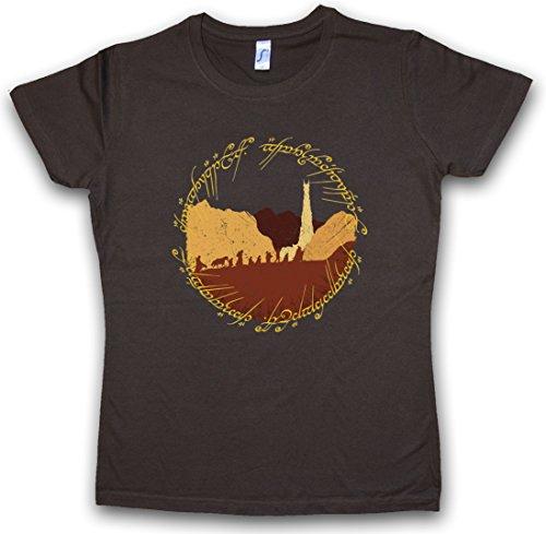 RING FELLOWSHIP T-SHIRT WOMAN GIRLIE DONNA SHIRT - Lord of Moria Il Signore Minas the Rings Frodo Sauron degli Anelli Gandalf Aragon Taglie S - 5XL