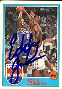 Eddie Johnson Autographed Hand Signed Basketball Card (Sacramento Kings) 1993 Topps... by Hall of Fame Memorabilia