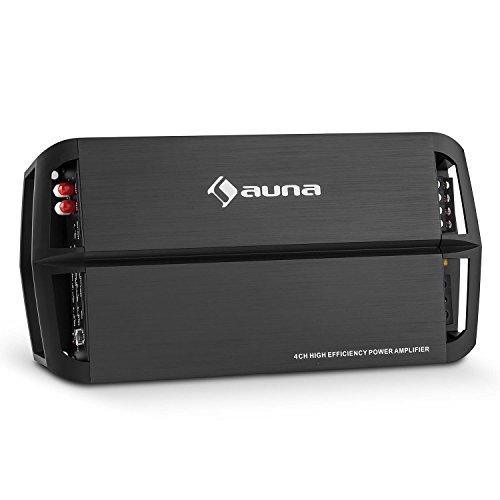 auna-AMP490BK-Auto-Endstufe-4-Kanal-Verstrker-mit-Fernbedienung-360W-Class-AB-Verstrker-brckbar-zum-2-Kanal-Betrieb-regelbarem-Hoch-und-Tiefpassfilter-Aluminium-schwarz
