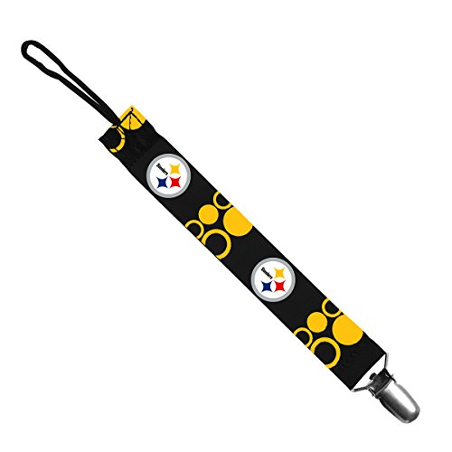 Pittsburgh Steelers Pacifier Clip front-972669