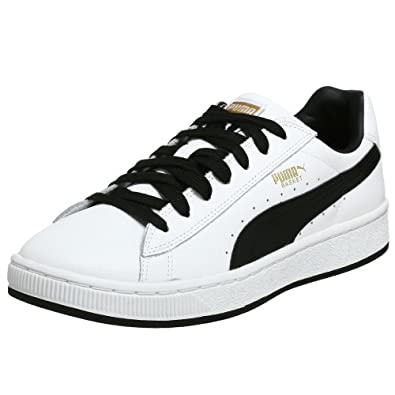 PUMA Men's Basket II Sneaker,White/Black,8 M US
