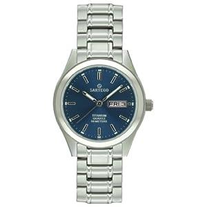 Men's Sartego Barcelona Titanium Watch Blue Dial