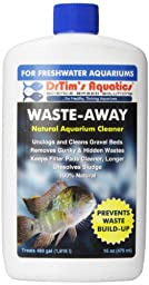 DrTim\'s Aquatics Waste-Away Natural Aquarium Cleaner, Fresh Water, 16-Ounce