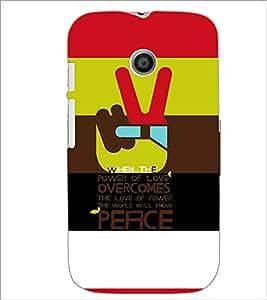 Printdhaba Quote D-3925 Back Case Cover For Motorola Moto E