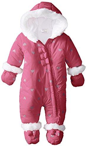 Absorba Baby-Girls Newborn G Microfiber Snowsuit, Dark Pink, 6-9 Months front-775586