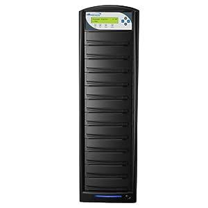 Vinpower Digital Inc. SharkCopier 1 to 11 Target 20x DVD CD Disc Duplicator Tower with 250GB Hard Drive SATA 1.5 Gb-s (Shark-S11T-SNY-BK) -  Black