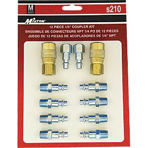 Milton industries Tools 12-piece M Style 1/4
