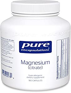 Pure Encapsulations Magnesium Citrate, 180 Count