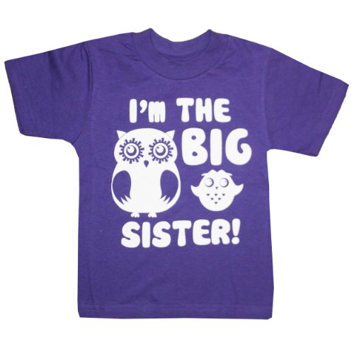 Happy Family Clothing Little Girls' I'M The Big Sister T-Shirt (2/3 T, Purple)