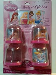 Disney Princess Mini Water Globes Party Favors (4 pack) by Hallmark