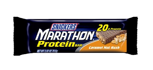 Snickers Marathon Caramel Nut Rush Protein Bar, 2.82-Ounce Bars (Pack of 12)