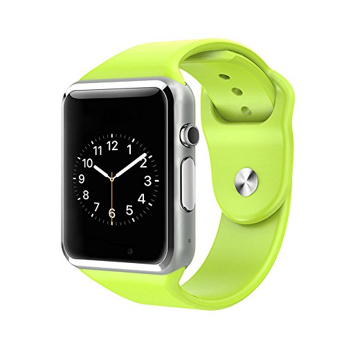 Hideer G08 Bluetooth Smart Watch WristWatch Support SIM Card for IOS and Android Cellphone Phone mate (Green)