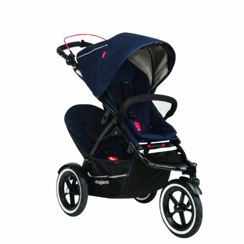 Phil&Teds Navigator Stroller With Auto Stop And Doubles Kit, Midnight front-1065954