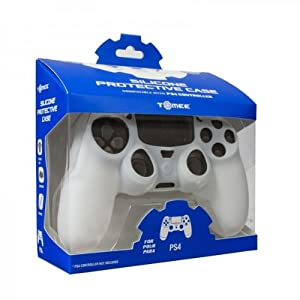 Tomee Silicone Skin Protective Case for PS4 Controller (White)
