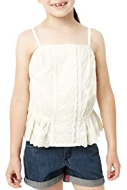 Pure Cotton Broderie Camisole Top [T77-5844M-S]