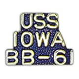 U.S. Navy USS Iowa BB-61 Pin 1""
