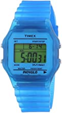 Timex Trend Unisex Digital Watch with LCD Dial Digital Display and Blue Resin Strap T2N804PF/4
