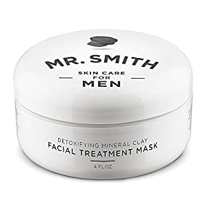 Mr Smith Co. Clay Face Mask for Men 8oz. Ageless Facial Treatment for Acne, Blackhead and Scar Removal.