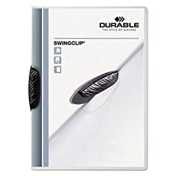 Durable - Swingclip Polypropylene Report Cover, Letter Size, Clear/Black Clip, 25/Box 2263-01 (DMi BX