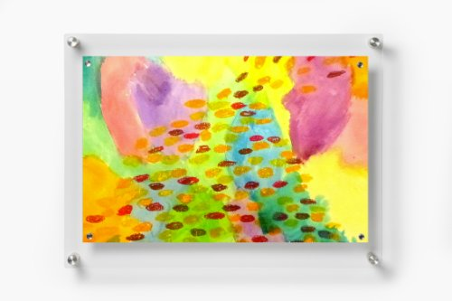 Wexel Art 1419 Rectango Floating Acrylic Frame with Magnets, for 11x17 images