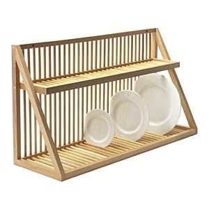 Wall Mounted Wooden Plate Rack Large Amazoncouk