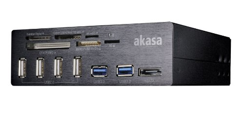 Akasa Interconnect Pro 5.25 inch USB Front Panel with Card Reader