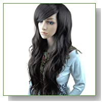 MelodySusie HOT Fashion Glamour Natural Fluffy Long Full Dark Brown Wig Hair Curl Wigs + MelodySusie Wig Cap + MelodySusie Wig Comb