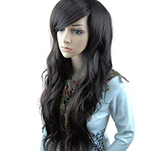 MelodySusie® High Quality New Fashion Fluffy Fancy Dark Brown Long Full Wig Hair Curl Wigs + MelodySusie® Wig Cap + MelodySusie® Wig Comb