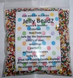 Jelly BeadZ JB Water Bead Gel, 8oz, Rainbow Mix
