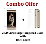 #10: M.G.R.J Transparent Back Cover + Tempered Glass ( Combo Pack ) For Coolpad Note 5 Lite (5