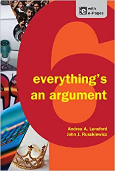 Everything's an argument with readings volume 7 Andrea Lunsford