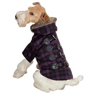 Zack & Zoey Fur Tipped Toggle Pet Coat - Purple