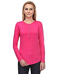 Colornext Viscose Pink Top for Women (Size: X-Large)