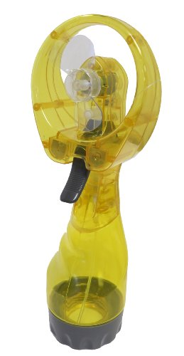 Cool Downz Deluxe Misting Fan and Personal Air Conditioner, Yellow, One Size