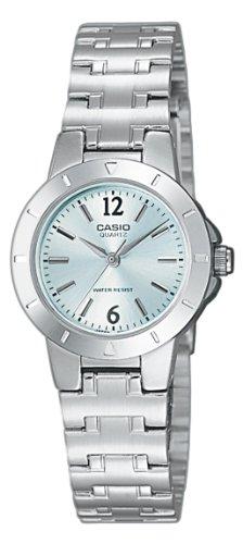 Casio LTP-1177A-3AEF Ladies Watch Quartz Analogue Green Dial Silver Steel Strap